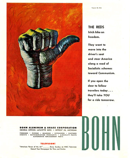Bohn Aluminum Co The Reds | Vintage War Propaganda Posters 1891-1970