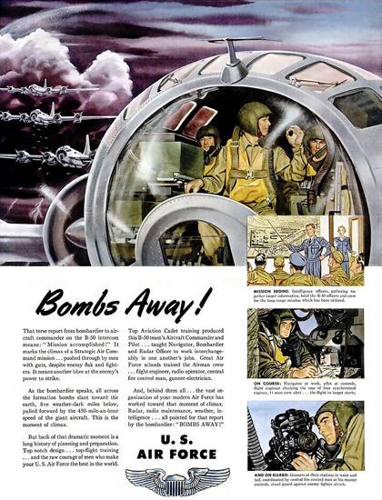 Bombs Away US Air Force | Vintage War Propaganda Posters 1891-1970