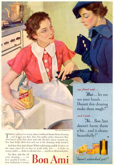 Bon Ami Cleaner 1935 | Vintage Ad and Cover Art 1891-1970