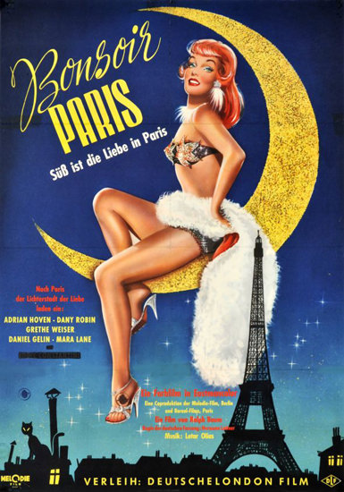 Bonsoir Paris Grethe Weiser Movie 1956 | Sex Appeal Vintage Ads and Covers 1891-1970
