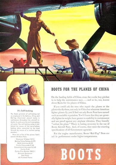 Boots Aircraft Nut Planes Of China 1942 | Vintage War Propaganda Posters 1891-1970