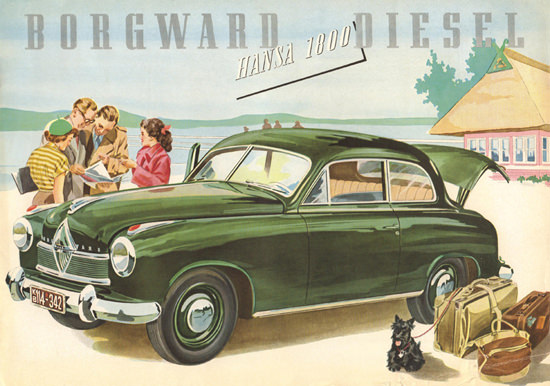 Borgward Hansa 1800 Diesel 1953 | Vintage Cars 1891-1970