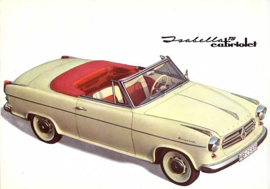Borgward Isabella TS Cabriolet 1957 | Vintage Cars 1891-1970