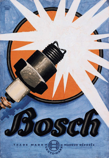 Bosch Spark Plugs 1926 | Vintage Ad and Cover Art 1891-1970