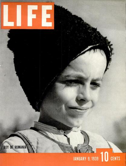 Boy of Rumania 9 Jan 1939 Copyright Life Magazine | Life Magazine BW Photo Covers 1936-1970