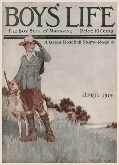Boys Life April 1914 Norman Rockwell | 400 Norman Rockwell Magazine Covers 1913-1963
