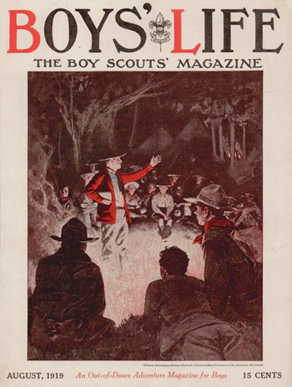 Boys Life August 1919 Norman Rockwell | 400 Norman Rockwell Magazine Covers 1913-1963