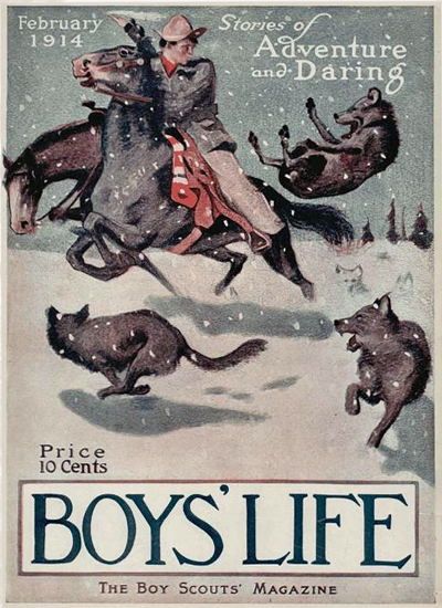 Boys Life February 1914 Norman Rockwell | 400 Norman Rockwell Magazine Covers 1913-1963