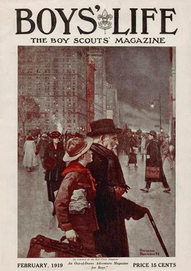 Boys Life February 1919 Norman Rockwell | 400 Norman Rockwell Magazine Covers 1913-1963