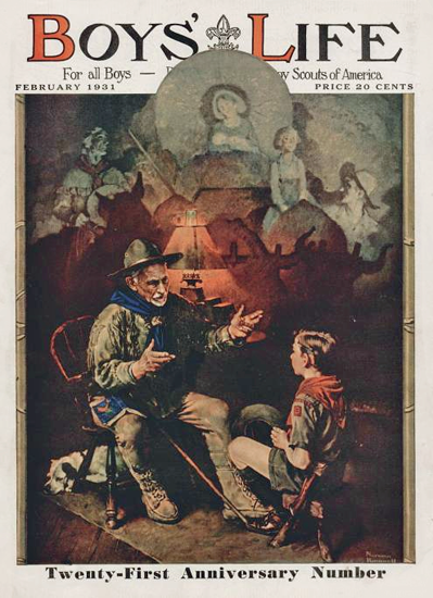 Boys Life February 1931 Norman Rockwell | 400 Norman Rockwell Magazine Covers 1913-1963