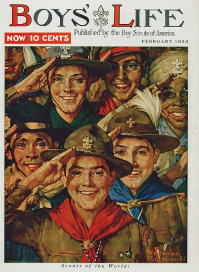 Boys Life February 1933 Norman Rockwell   400 Norman Rockwell Magazine Covers 1913-1963