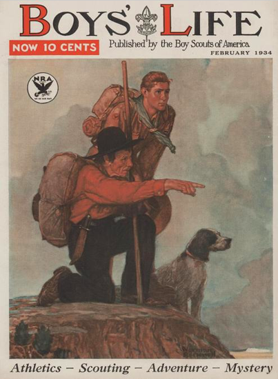 Boys Life February 1934 Norman Rockwell | 400 Norman Rockwell Magazine Covers 1913-1963