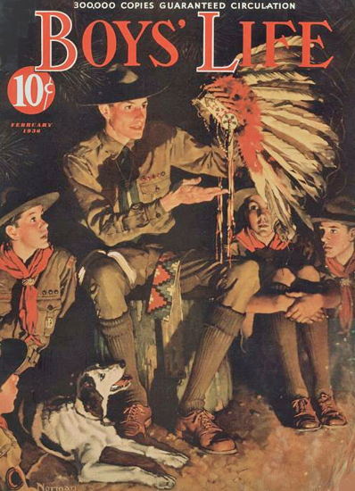 Boys Life February 1936 Norman Rockwell | 400 Norman Rockwell Magazine Covers 1913-1963