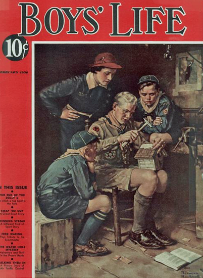 Boys Life February 1938 Norman Rockwell | 400 Norman Rockwell Magazine Covers 1913-1963