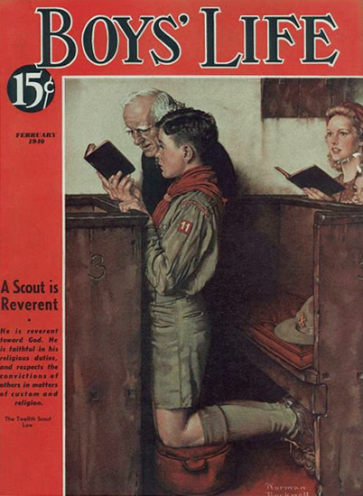 Boys Life February 1940 Norman Rockwell | 400 Norman Rockwell Magazine Covers 1913-1963