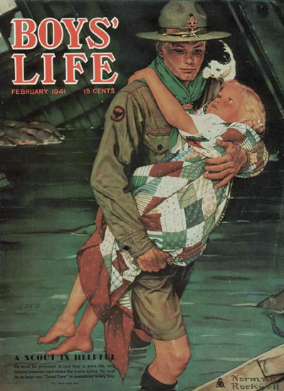 Boys Life February 1941 Norman Rockwell | 400 Norman Rockwell Magazine Covers 1913-1963