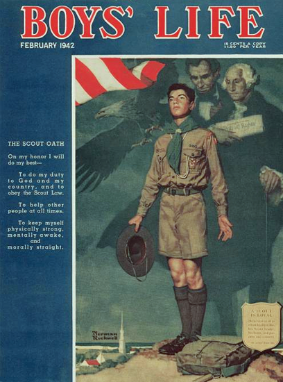 Boys Life February 1942 Norman Rockwell | 400 Norman Rockwell Magazine Covers 1913-1963