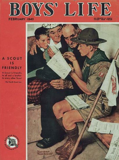 Boys Life February 1943 Norman Rockwell | 400 Norman Rockwell Magazine Covers 1913-1963