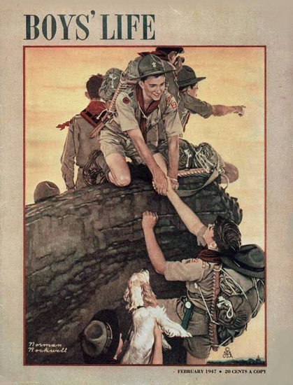 Boys Life February 1947 Norman Rockwell | 400 Norman Rockwell Magazine Covers 1913-1963