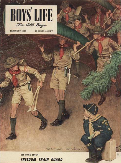Boys Life February 1948 Norman Rockwell | 400 Norman Rockwell Magazine Covers 1913-1963