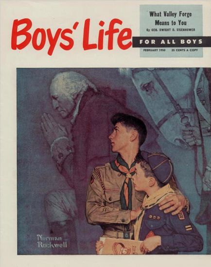 Boys Life February 1950 Norman Rockwell | 400 Norman Rockwell Magazine Covers 1913-1963