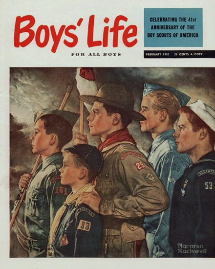 Boys Life February 1951 Norman Rockwell | 400 Norman Rockwell Magazine Covers 1913-1963