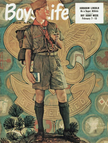 Boys Life February 1959 Norman Rockwell | 400 Norman Rockwell Magazine Covers 1913-1963