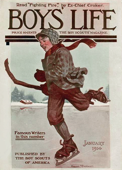 Boys Life January 1914 Norman Rockwell   400 Norman Rockwell Magazine Covers 1913-1963