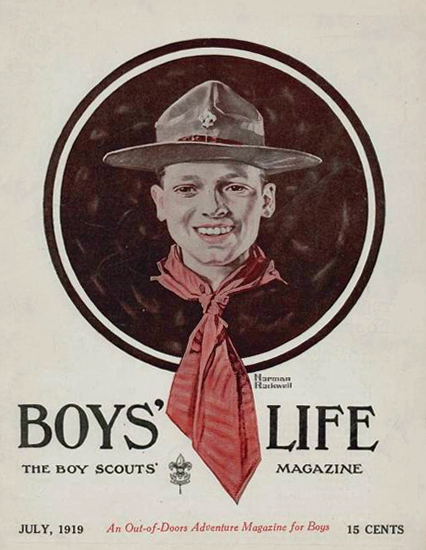 Boys Life July 1919 Norman Rockwell | 400 Norman Rockwell Magazine Covers 1913-1963