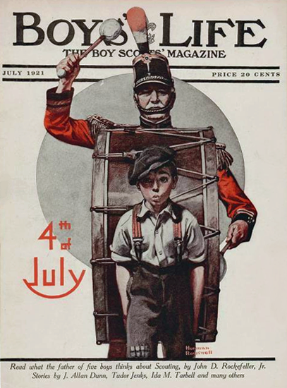 Boys Life July 1921 Norman Rockwell | 400 Norman Rockwell Magazine Covers 1913-1963