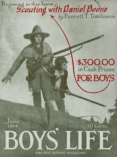 Boys Life June 1914 Norman Rockwell | 400 Norman Rockwell Magazine Covers 1913-1963