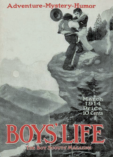Boys Life March 1914 Norman Rockwell | 400 Norman Rockwell Magazine Covers 1913-1963