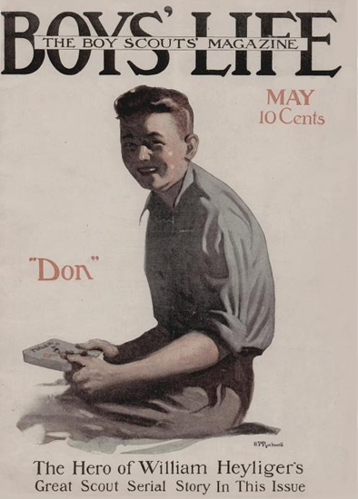 Boys Life May 1915 Norman Rockwell | 400 Norman Rockwell Magazine Covers 1913-1963
