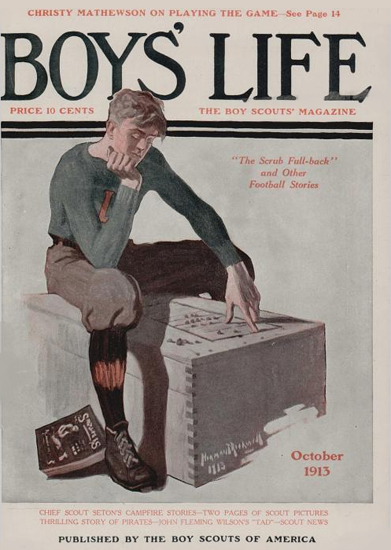 Boys Life October 1913 Norman Rockwell | 400 Norman Rockwell Magazine Covers 1913-1963