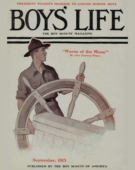Boys Life September 1913 Norman Rockwell | 400 Norman Rockwell Magazine Covers 1913-1963