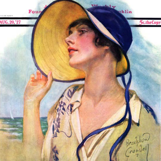 Bradshaw Crandell Saturday Evening Post 1927_08_20 Copyright crop | Best of Vintage Cover Art 1900-1970