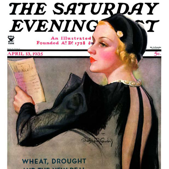 Bradshaw Crandell Saturday Evening Post 1935_04_13 Copyright crop | Best of Vintage Cover Art 1900-1970