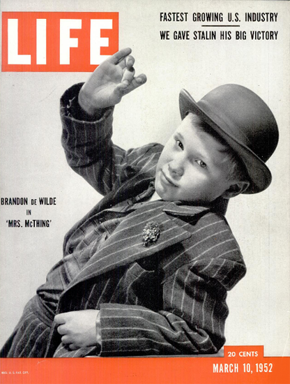 Brandon De Wild in Mrs McThing 10 Mar 1952 Copyright Life Magazine | Life Magazine BW Photo Covers 1936-1970