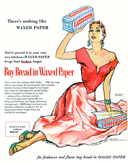 Bread In Waxed Paper | Sex Appeal Vintage Ads and Covers 1891-1970