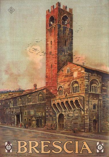Brescia Italy Italia | Vintage Travel Posters 1891-1970