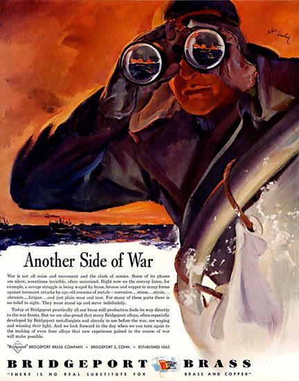 Bridgeport Brass Another Side Of War 1943 | Vintage War Propaganda Posters 1891-1970