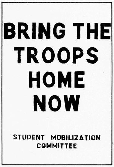 Bring Troops Home Student Mobilization Vietnam | Vintage War Propaganda Posters 1891-1970
