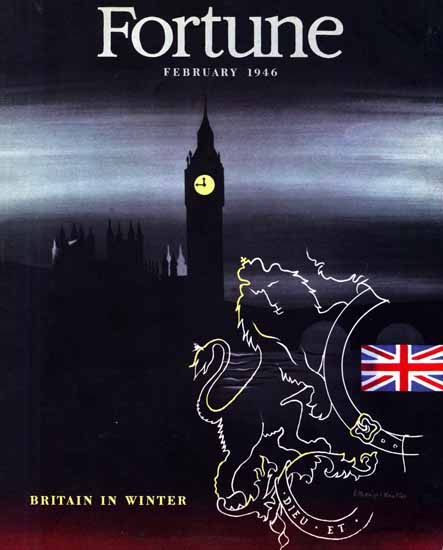 Britain in Winter Fortune Magazine February 1946 Copyright | Fortune Magazine Graphic Art Covers 1930-1959