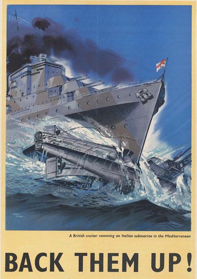British Armed Forces Back Them Up 01 | Vintage War Propaganda Posters 1891-1970