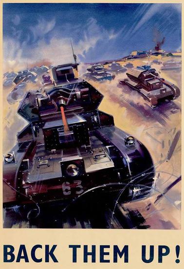 British Armed Forces Back Them Up 05 | Vintage War Propaganda Posters 1891-1970