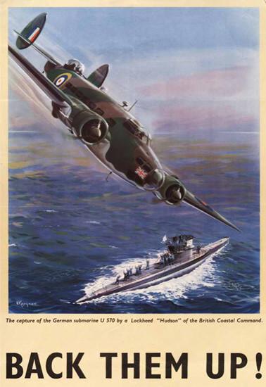 British Armed Forces Back Them Up 07   Vintage War Propaganda Posters 1891-1970