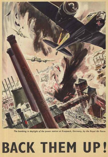 British Armed Forces Back Them Up 09 | Vintage War Propaganda Posters 1891-1970