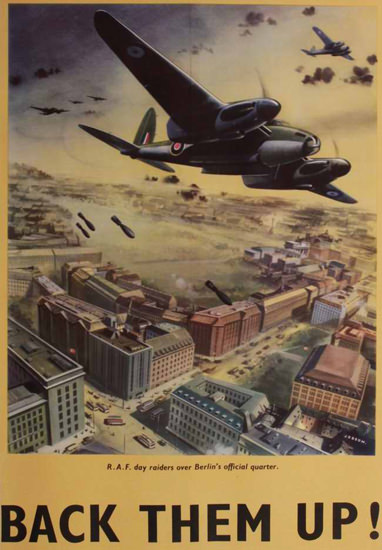 British Armed Forces Back Them Up 10   Vintage War Propaganda Posters 1891-1970