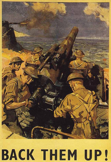 British Armed Forces Back Them Up 11 | Vintage War Propaganda Posters 1891-1970