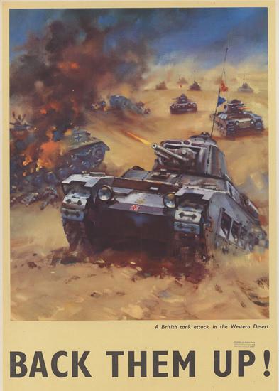 British Armed Forces Back Them Up 12 | Vintage War Propaganda Posters 1891-1970